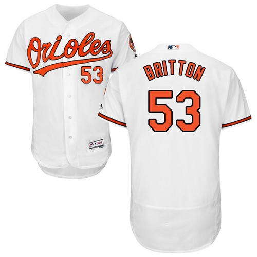 Orioles #53 Zach Britton White Flexbase Authentic Collection Stitched MLB Jersey