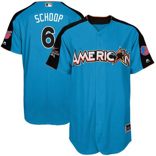 Orioles #6 Jonathan Schoop Blue All-Star American League Stitched MLB Jersey