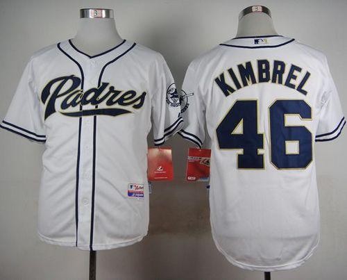 Padres #46 Craig Kimbrel White Cool Base Stitched MLB Jersey