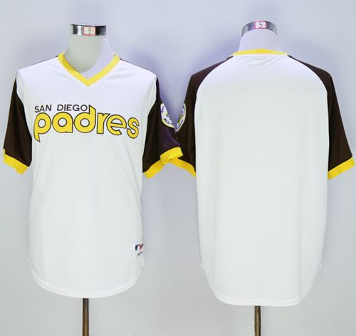 Padres Blank White 1978 Turn Back The Clock Stitched MLB Jersey