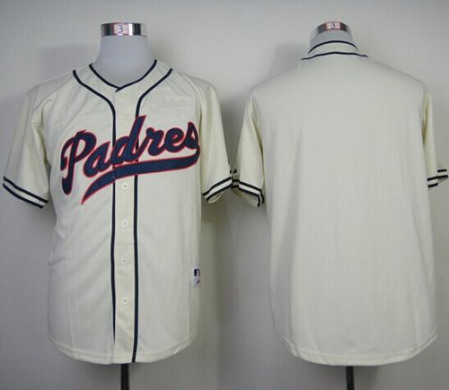 Padres Blank Cream 1948 Turn Back The Clock Stitched MLB Jersey