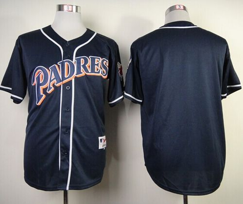 Padres Blank Navy Blue 1998 Turn Back The Clock Stitched MLB Jersey