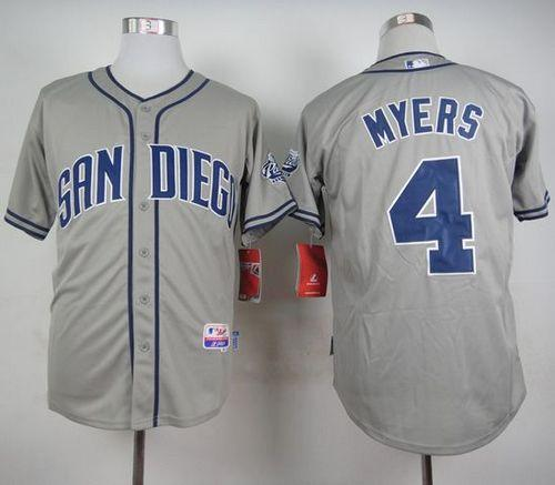 Padres #4 Wil Myers Grey Cool Base Stitched MLB Jersey