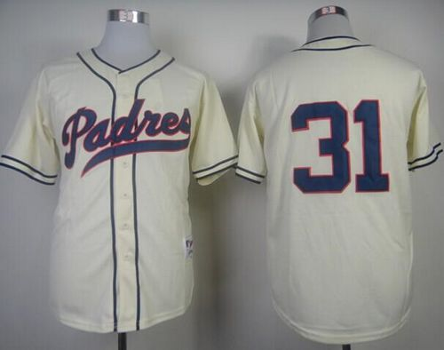 Padres #31 Dave Winfield Cream 1948 Turn Back The Clock Stitched MLB Jersey