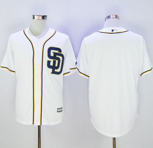 Padres Blank White New Cool Base Stitched MLB Jersey