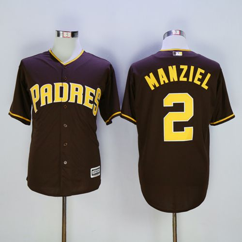 Padres #2 Johnny Manziel Coffee New Cool Base Stitched MLB Jersey