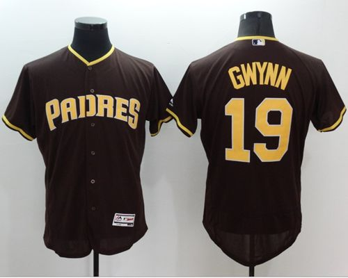 Padres #19 Tony Gwynn Brown Flexbase Authentic Collection Stitched MLB Jersey
