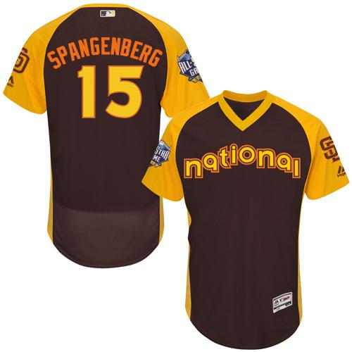 Padres #15 Cory Spangenberg Brown Flexbase Authentic Collection 2016 All-Star National League Stitched MLB Jersey