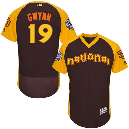 Padres #19 Tony Gwynn Brown Flexbase Authentic Collection 2016 All-Star National League Stitched MLB Jersey