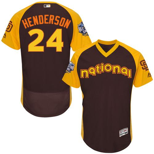 Padres #24 Rickey Henderson Brown Flexbase Authentic Collection 2016 All-Star National League Stitched MLB Jersey