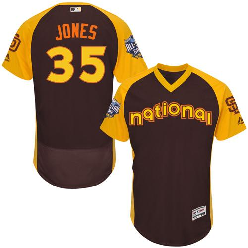 Padres #35 Randy Jones Brown Flexbase Authentic Collection 2016 All-Star National League Stitched MLB Jersey