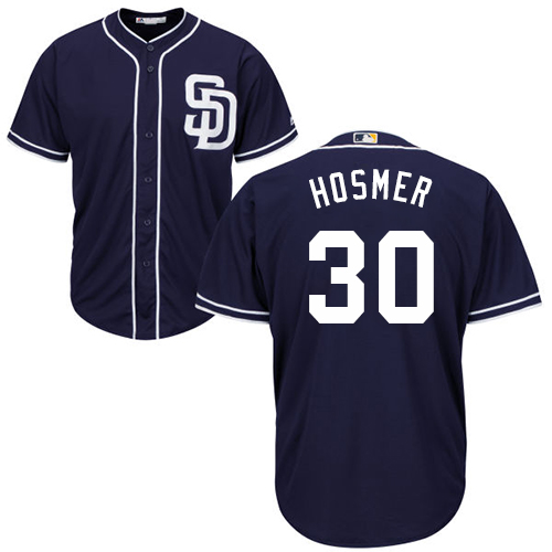 Padres #30 Eric Hosmer Navy Blue New Cool Base Stitched MLB Jersey