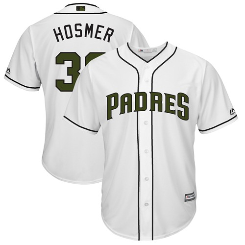 Padres #30 Eric Hosmer White New Cool Base 2018 Memorial Day Stitched MLB Jersey