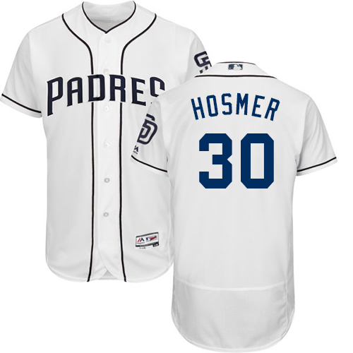 Padres #30 Eric Hosmer White Flexbase Authentic Collection Stitched MLB Jersey