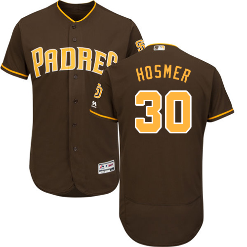 Padres #30 Eric Hosmer Brown Flexbase Authentic Collection Stitched MLB Jersey