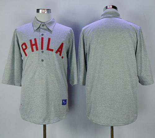Mitchell And Ness 1900 Phillies Blank Grey Throwback Stitched MLB Jersey