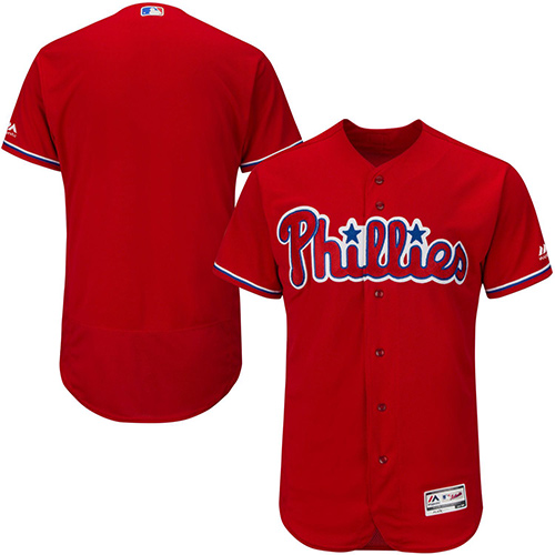 Phillies Blank Red Flexbase Authentic Collection Stitched MLB Jersey
