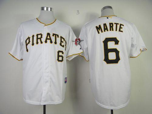 Pirates #6 Starling Marte White Cool Base Stitched MLB Jersey