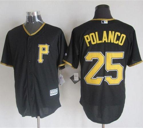 Pirates #25 Gregory Polanco Black New Cool Base Stitched MLB Jersey