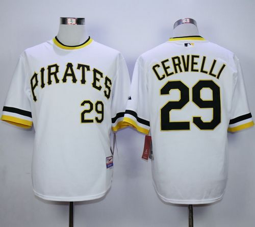 Pirates #29 Francisco Cervelli White Alternate 2 Cool Base Stitched MLB Jersey