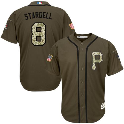 Pirates #8 Willie Stargell Green Salute to Service Stitched MLB Jersey