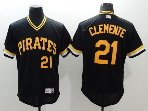 Pirates #21 Roberto Clemente Black Flexbase Authentic Collection Cooperstown Stitched MLB Jersey