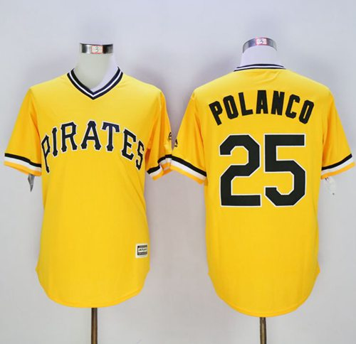 Pirates #25 Gregory Polanco Gold New Cool Base Stitched MLB Jersey