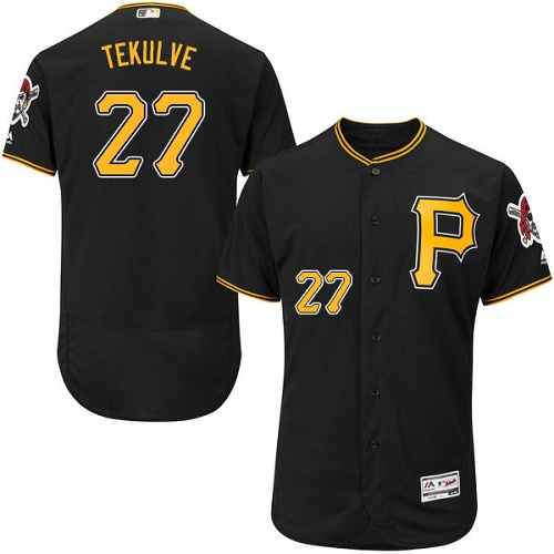 Pirates #27 Kent Tekulve Black Flexbase Authentic Collection Stitched MLB Jersey