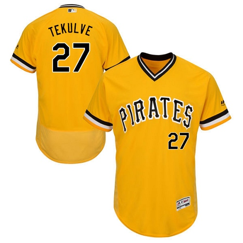 Pirates #27 Kent Tekulve Gold Flexbase Authentic Collection Cooperstown Stitched MLB Jersey