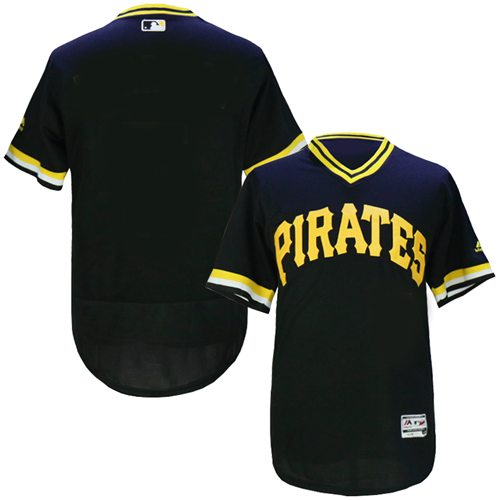 Pirates Blank Black Flexbase Authentic Collection Cooperstown Stitched MLB Jersey