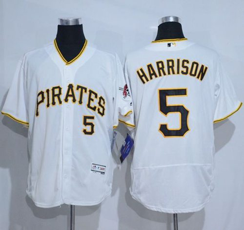 Pirates #5 Josh Harrison White Flexbase Authentic Collection Stitched MLB Jersey