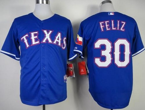 Rangers #30 Naftali Feliz Stitched MLB Blue Cool Base Jersey