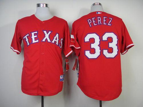 Rangers #33 Martin Perez Red Cool Base Stitched MLB MLB Jersey