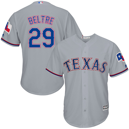 Rangers #29 Adrian Beltre Grey New Cool Base Stitched MLB Jersey