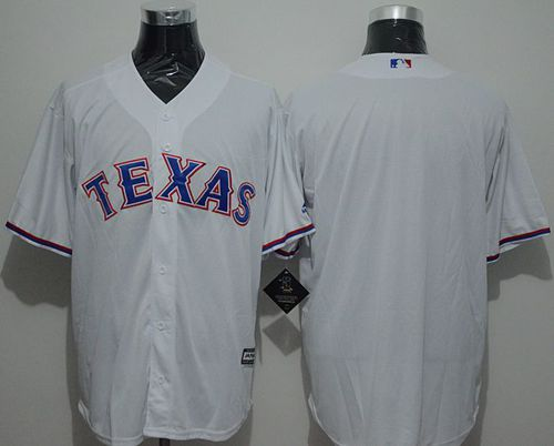 Rangers Blank White New Cool Base Stitched MLB Jersey