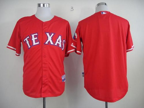 Rangers Blank Red 40th Anniversary Patch Stitched MLB Jersey