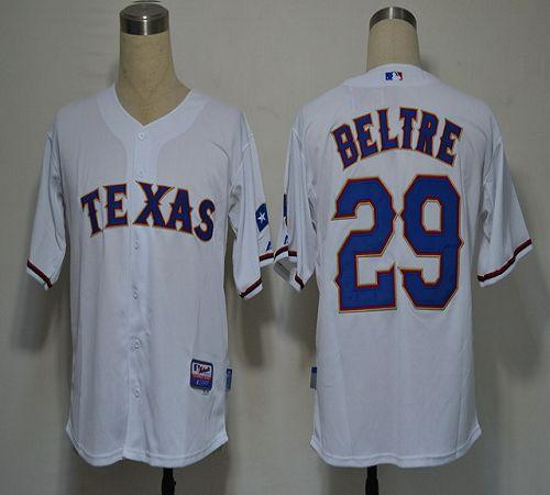Rangers #29 Adrian Beltre White Cool Base Stitched MLB Jersey