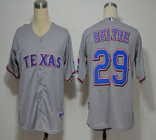 Rangers #29 Adrian Beltre Grey Cool Base Stitched MLB Jersey