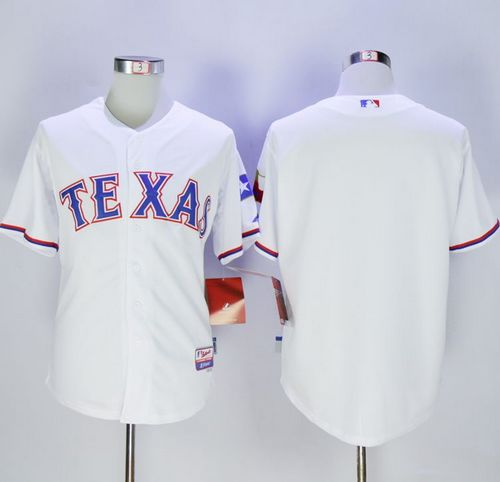 Rangers Blank White Cool Base Stitched MLB Jersey
