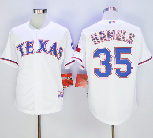 Rangers #35 Cole Hamels White Cool Base Stitched MLB Jersey