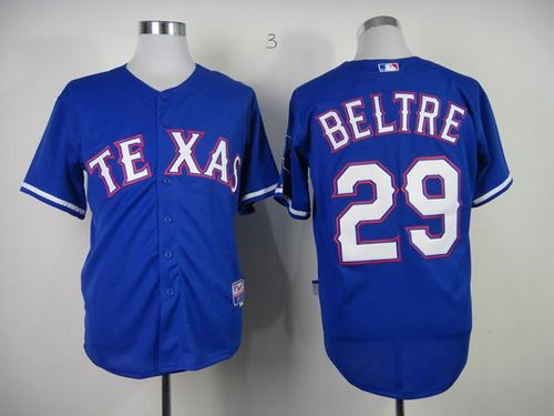 Rangers #29 Adrian Beltre Blue Cool Base Stitched MLB Jersey