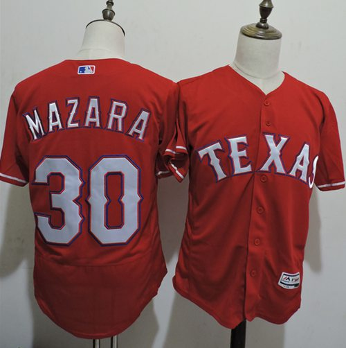 Rangers #30 Nomar Mazara Red Flexbase Authentic Collection Stitched MLB Jersey