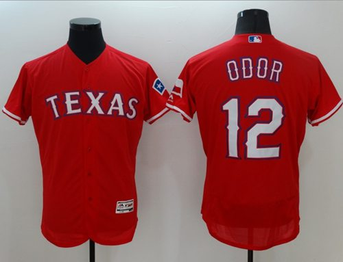 Rangers #12 Rougned Odor Red Flexbase Authentic Collection Stitched MLB Jersey