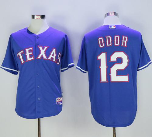 Rangers #12 Rougned Odor Blue Cool Base Stitched MLB Jersey