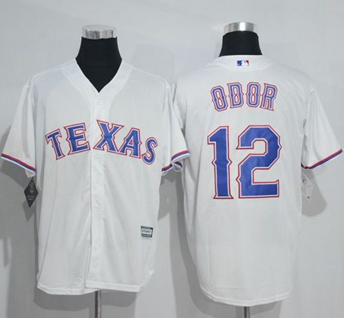Rangers #12 Rougned Odor White New Cool Base Stitched MLB Jersey
