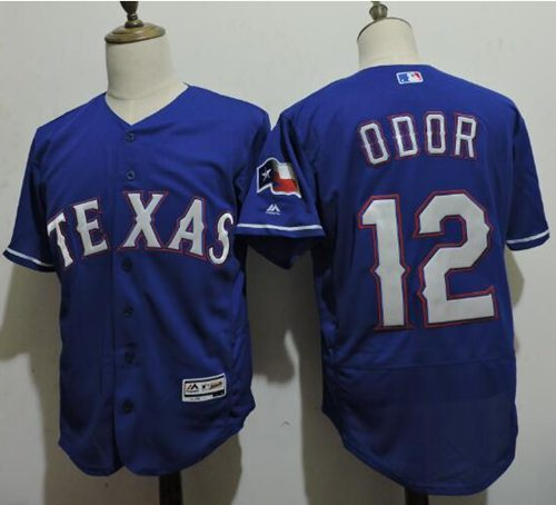 Rangers #12 Rougned Odor Blue Flexbase Authentic Collection Stitched MLB Jersey