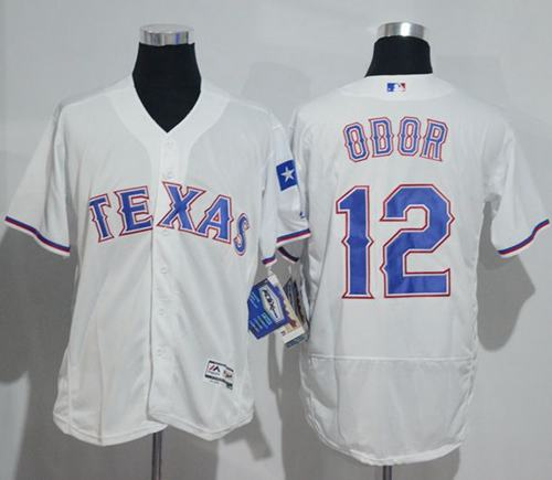 Rangers #12 Rougned Odor White Flexbase Authentic Collection Stitched MLB Jersey