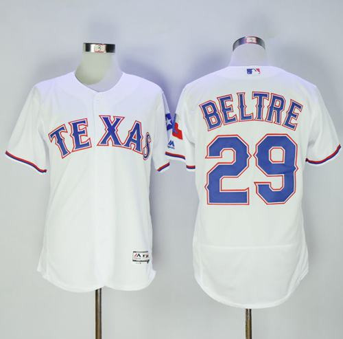 Rangers #29 Adrian Beltre White Flexbase Authentic Collection Stitched MLB Jersey