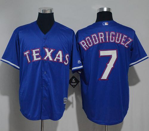 Rangers #7 Ivan Rodriguez Blue New Cool Base Stitched MLB Jersey
