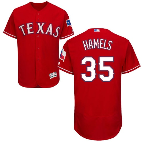 Rangers #35 Cole Hamels Red Flexbase Authentic Collection Stitched MLB Jersey